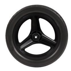 Roda dianteira 10 polegadas bicicleta aprendizagem RUNRIDE preta com pneu preto