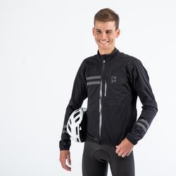 Fahrrad Regenjacke Rennrad RC 500 Herren schwarz