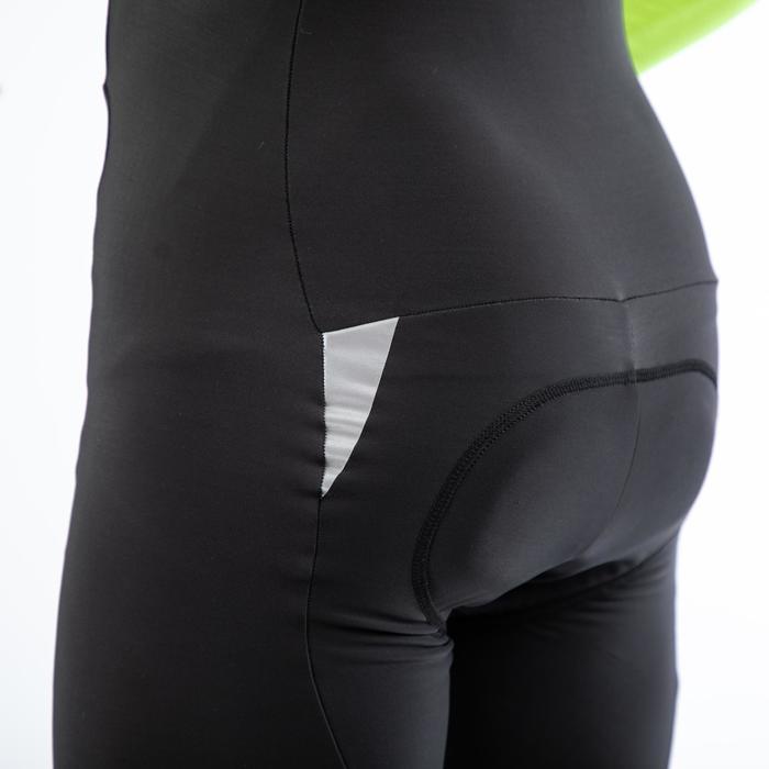 Lange fietsbroek met bretels RC500 zwart