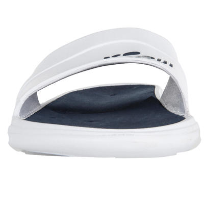 Men's Swimming Pool Sandals Slap 500 - White Blue