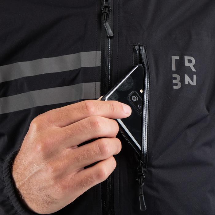 Fietsregenjas RC500 zwart