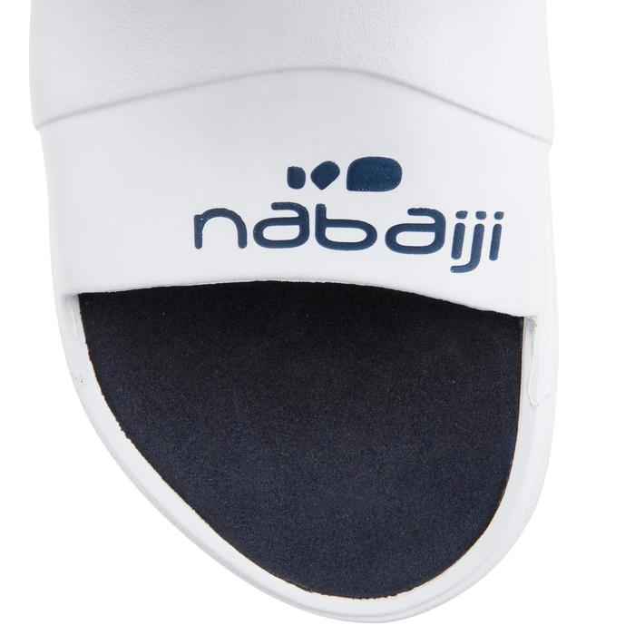 Chanclas Natación Nabaiji Hombre Blanco / Azul Marino Pala