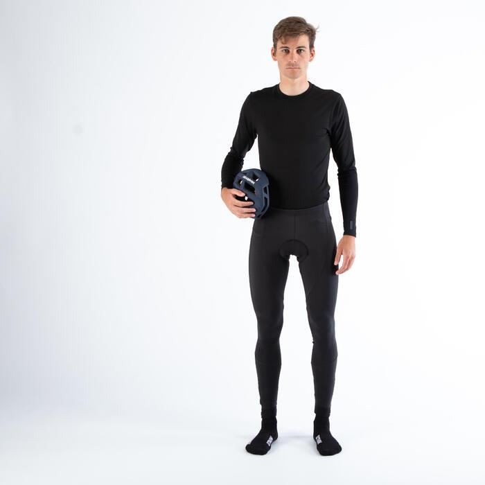 Fietsondershirt met lange mouwen voor heren Essential zwart