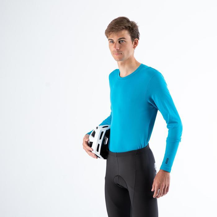 Fahrrad Unterwäsche Rennrad Langarm RC 100 Herren blau
