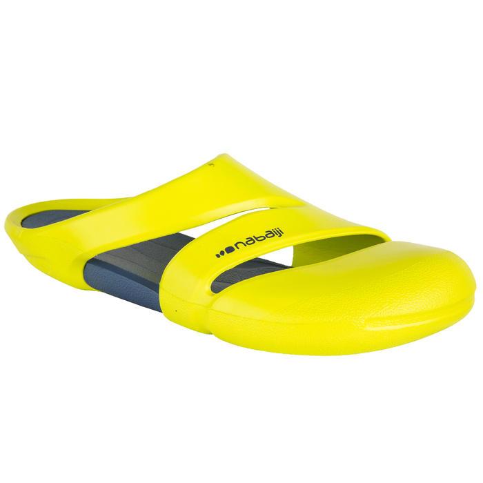 黃灰色男款泳池拖鞋100