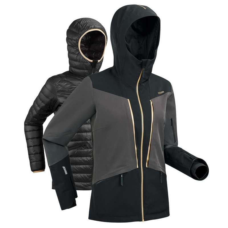 WOMEN'S JACKET OR PANT ADVANCED SKIERS Clothing - W D-SKI Jacket 980 - Black WEDZE - Jackets and Coats