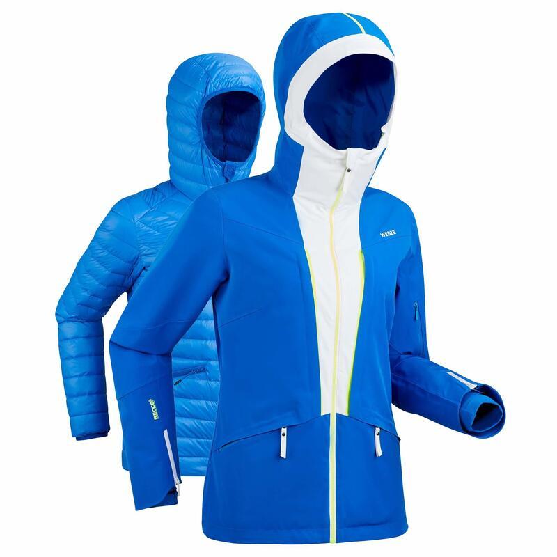 Ski-jas voor pisteskiën dames 980 blauw