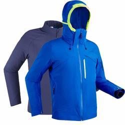 Ski-jas voor pisteskiën heren 980 blauw