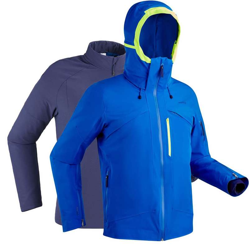 MEN'S JACKETS OR PANTS ADVANCED SKIERS Ski Wear - Men's D-Ski Jacket 980 - Blue WEDZE - Ski Wear