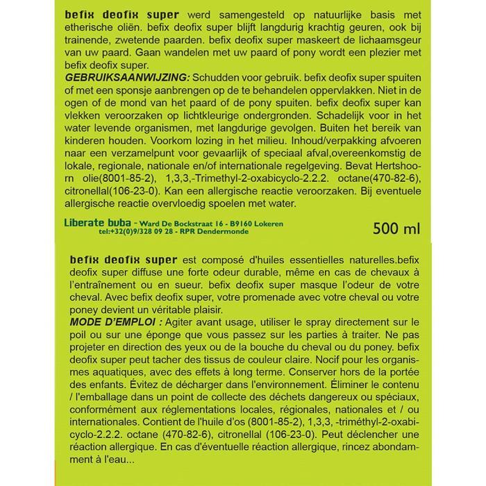 Deodorant voor paarden Deofix Super 500 ml