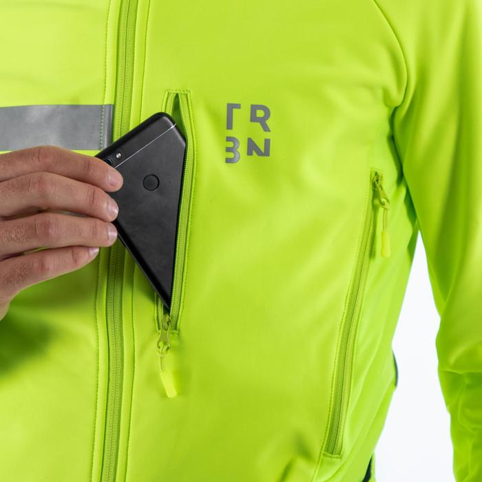 Veste hiver de vélo RC500 homme visible jaune fluo EN1150