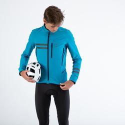 Fahrrad Winterjacke Rennrad RC 500 Herren blau