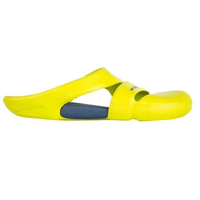 男款泳池拖鞋-黃灰色