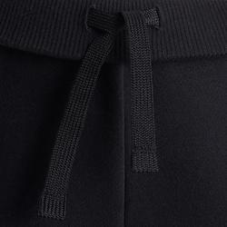 Warme gymbroek voor meisjes 100 zwart