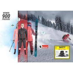 Pantalon de ski freeride femme FR900 bordeaux