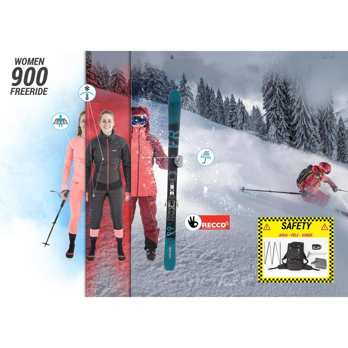 Sous-short de ski freeride femme FR900 noir