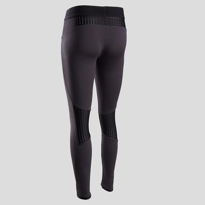 Leggings warm atmungsaktiv Gym Kinder grau