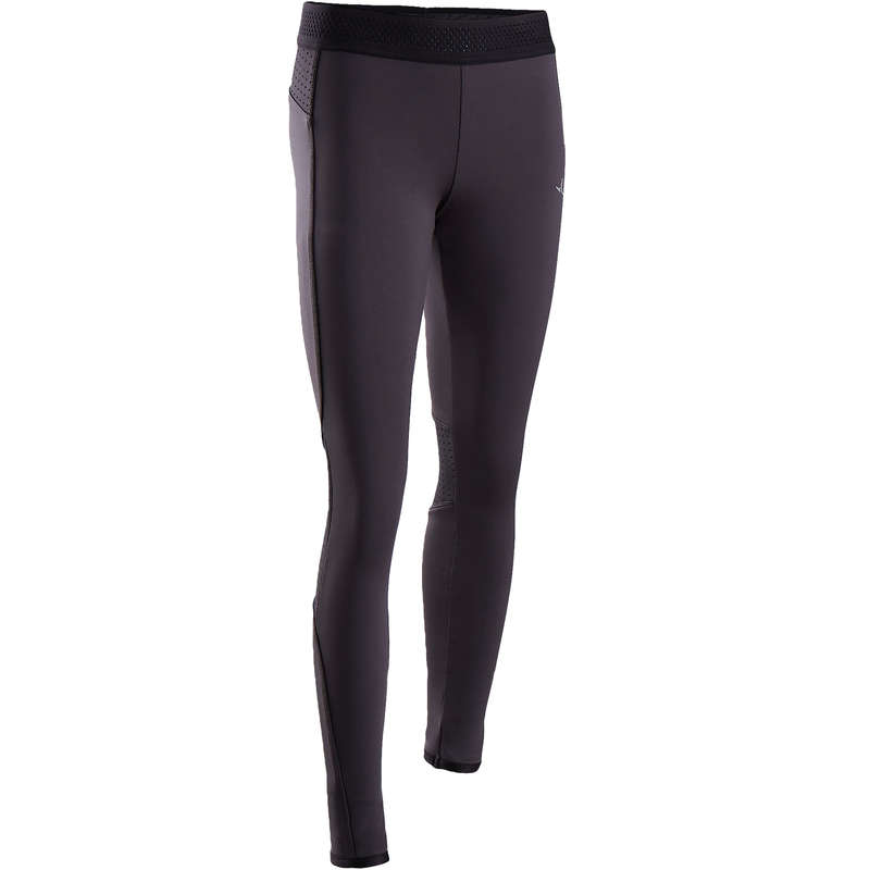GIRL EDUCATIONAL GYM COLD WEATHER APP Fitness and Gym - S900 Girls' Warm Gym Leggings DOMYOS - Gym Activewear