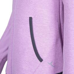 Girls' Gym Warm Breathable Hooded Cotton Jacket 500 - Mauve