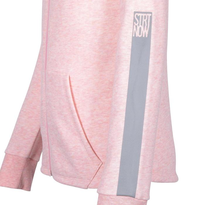 Girls' Warm Breathable Gym Hooded Jacket 100 - Pink