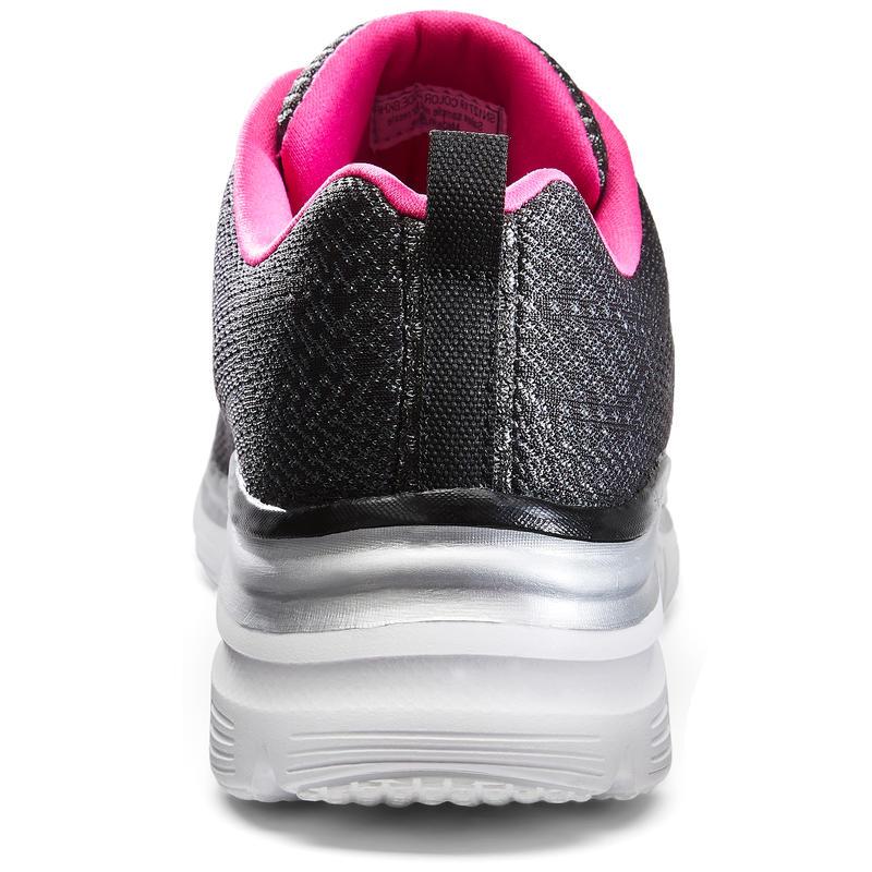 Flex Appeal Women's Fitness Walking Shoes - Black/Pink