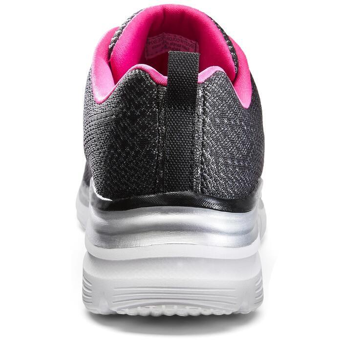 Damessneakers voor sportief wandelen Flex Appeal zwart/roze