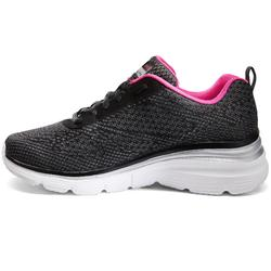 Chaussures marche sportive femme Flex Appeal noir / rose