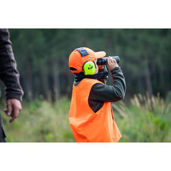 POLAIRE CHASSE DEMI ZIP 100 JUNIOR MARRON