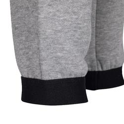 100 Boys' Warm Regular-Fit Gym Bottoms - Mottled Grey