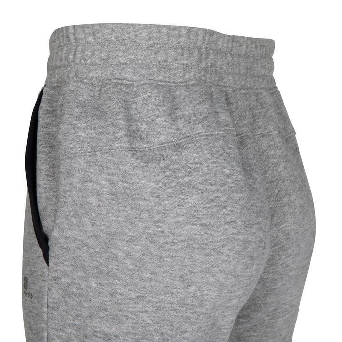男童標準剪裁保暖健身長褲100 - 雜灰色