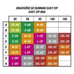 BRASSIERE DE RUNNING EASY ZIP BLEU GRIS / TURQUOISE