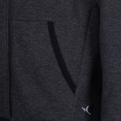 男童保暖透氣內襯連帽外套500 - 雜灰色