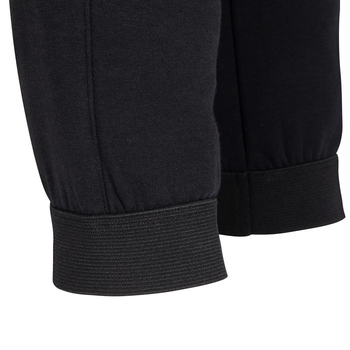 500 Boys' Breathable Cotton Mesh-Lined Reinforced Gym Bottoms - Black