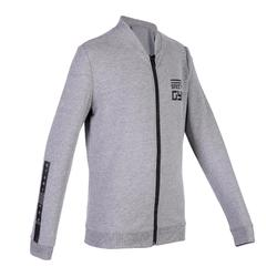 100 Boys' Warm Gym Jacket - Mottled Grey