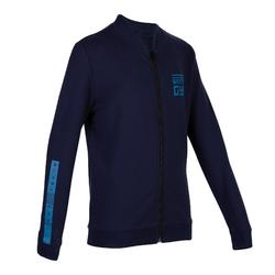 100 Boys' Warm Gym Jacket - Mottled Blue