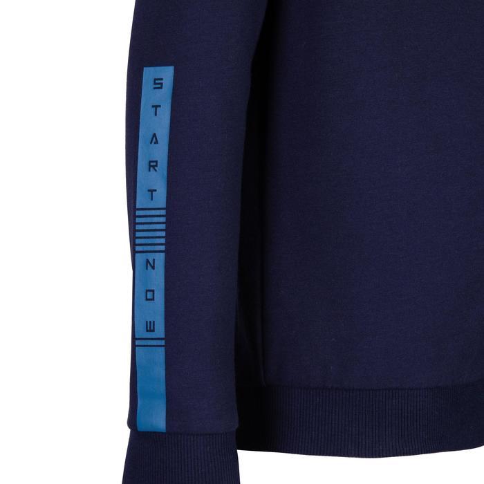男童保暖健身外套100 - 雜藍色