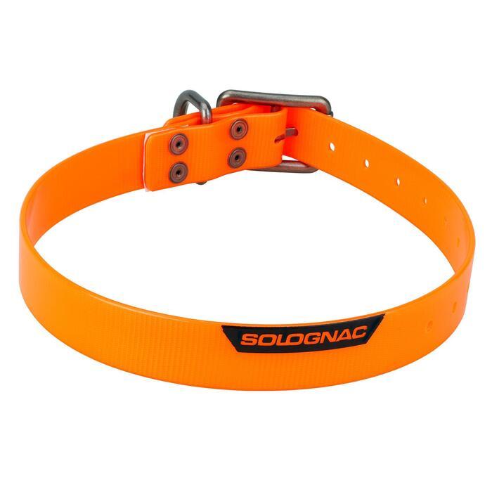 Collar Perro Caza Solognac 500 Ajustable Plastico Naranja Fluorescente