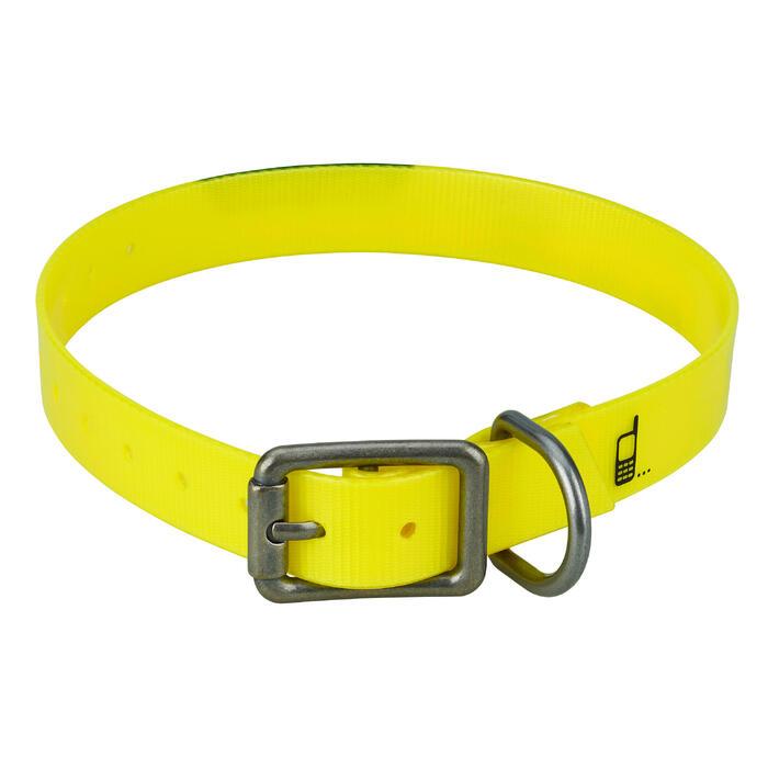 Collar Perro Caza Solognac 500 Ajustable Plastico Amarillo Fluorescente