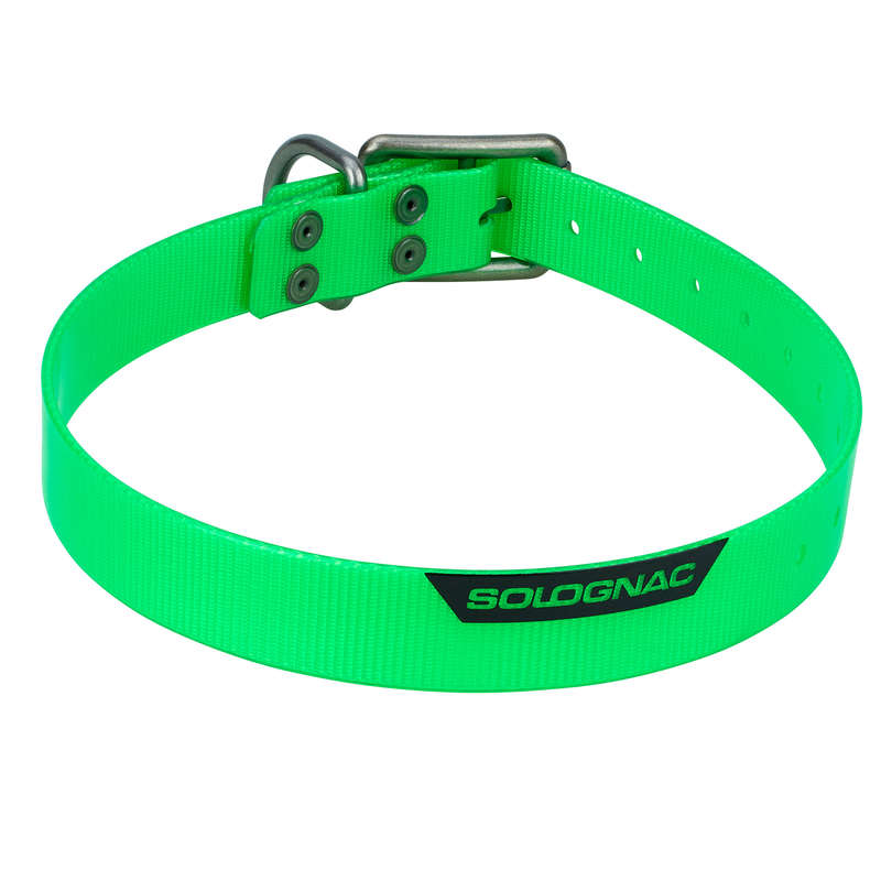 DOG ACCESSORIES Shooting and Hunting - Dog collar 500 Fluo Green SOLOGNAC - Working Dogs