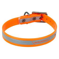 Collier chien 500 Réfléchissant Orange