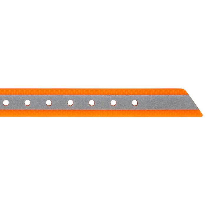 Collar Perro Caza Solognac 500 Naranja Banda Reflectante Ajustable