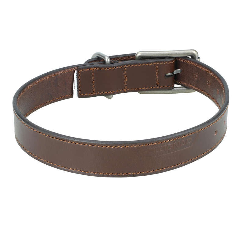 DOG ACCESSORIES Shooting and Hunting - Dog Collar 900 - Leather SOLOGNAC - Working Dogs