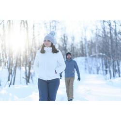女款極致保暖雪地健行刷毛外套SH100-白色