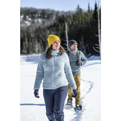 Fleece vest voor sneeuwwandelen dames SH100 Ultra-warm ijsblauw
