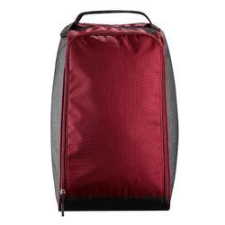 SKI BOOT BAG 500 - GREY AND MAROON