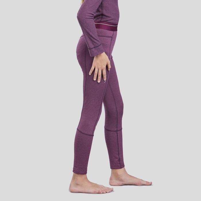 Sous-vêtement de ski enfant 2warm bas prune