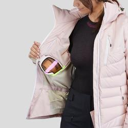 女款下坡滑雪外套900 Warm - 粉色
