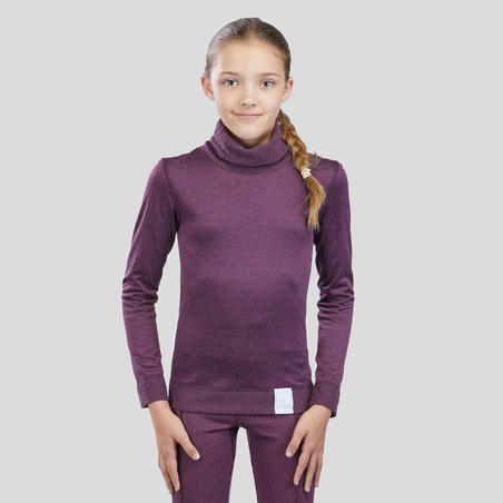 Kids' Base Layer Ski Top 2WARM - Purple
