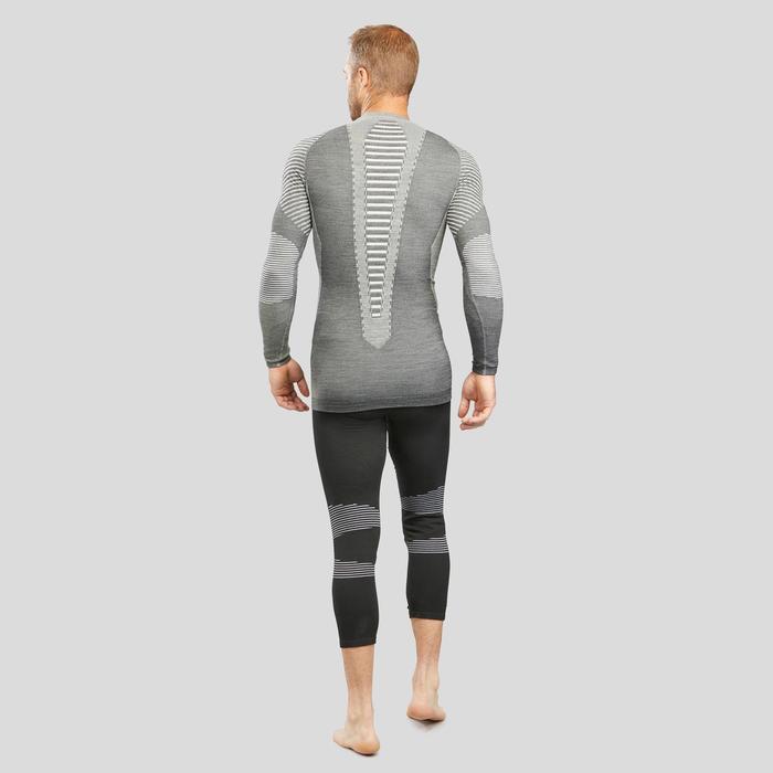 Sous-vêtement de ski homme 900 laine haut gris