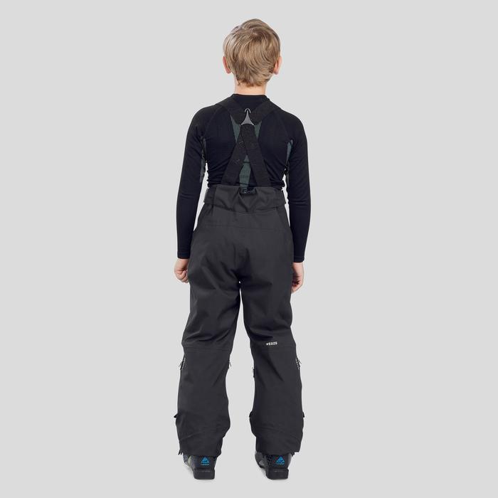 Skihose Piste 900 Kinder schwarz